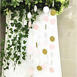 Недорогие -2m красочные круглые бумаги свадьба день рождения вечеринка фон стены висит украшение ручной работы фото реквизит