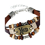 Men's Women's Leather Bracelet Fashion Leather Geometric Skull Jewelry For Party Daily