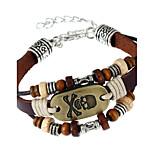Муж. Жен. Кожаные браслеты Мода Кожа Геометрической формы В форме черепа Бижутерия Назначение Для вечеринок Повседневные