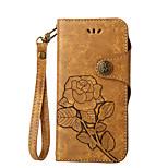 для футляра для карточек держатель кошелек с подставкой с флип тиснением полный корпус чехол цветок твердый кожа pu для nokia nokia 6