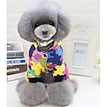 Собака Комбинезоны Одежда для собак На каждый день Геометрические линии Черный Красный