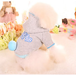 Dog Hoodie Dog Clothes Casual/Daily Hearts Blushing Pink Blue