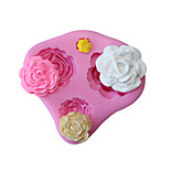 3D Rose Flower Silicone Mold Fondant Cake Decorating Chocolate Cookie Baking Tools