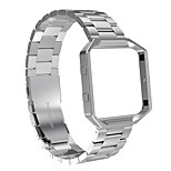 Fitbit Blaze Bands with Metal FrameAustrake Stainless Steel Replacement Bands with Frame for Fitbit Blaze Smart Fitness Watch for Women Men-silver