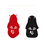 Dog Costume Coat Sweatshirt Dog Clothes Party Cosplay Halloween Christmas Pumpkin Red Black