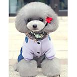 Собака Комбинезоны Одежда для собак На каждый день Носки детские Лиловый Зеленый Розовый