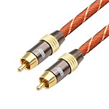 RCA Connect Cable, RCA to RCA Connect Cable Male - Male Gold-plated copper 1.0m(3Ft)