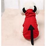Собака Костюмы Одежда для собак На каждый день Сплошной цвет Красный
