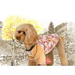 Собака Комбинезоны Одежда для собак На каждый день Геометрические линии Красный Зеленый