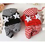 Собака Комбинезоны Одежда для собак На каждый день Звезды Черный Красный