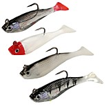 4 pcs Soft Bait g/Ounce mm/3-1/4