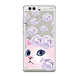 Case For Huawei P9 P10 Transparent Pattern Back Cover Cat Transparent Flower Soft TPU for Huawei P10 Plus Huawei P10 Lite Huawei P10