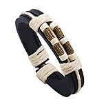 Men's Leather Bracelet Fashion Adjustable Leather Round Jewelry For Stage Street