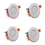 4pcs 5w 500lm привели светильники светильников 3000k / 4000k / 6500k привели для дома и офиса ac85-265v