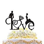 акриловый торт вставка творческая любовь обнимать торт украшения украшения