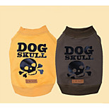 Dog Sweatshirt Dog Clothes Casual/Daily Skulls Yellow Gray
