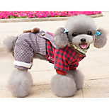 Собака Комбинезоны Одежда для собак На каждый день Носки детские Лиловый Синий Розовый