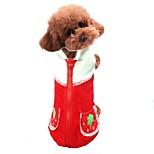 Собака Жилет Одежда для собак На каждый день Фрукты Оранжевый Красный