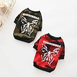 Dog Sweatshirt Dog Clothes Casual/Daily Geometric Jade Red