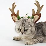 Кошка Собака Аксессуары для шерсти Одежда для собак Для вечеринки Косплей Рождество Северный олень Коричневый