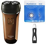 FLYCO FS870 Electric Shaver Razor Nose Device Two Spare Heads Washable 100240V