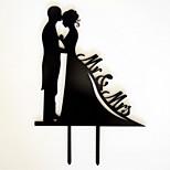 акриловые свадебные аксессуары невесты и жениха пользовательских свадебный торт украшения