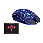 Wireless Charging Mouse Backlit 2400DPI Gaming Breathing Lights Mouse and Pad Kit 2 Pieces