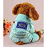 Собака Комбинезоны Одежда для собак На каждый день геометрический Зеленый Розовый