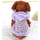 Собака Жилет Одежда для собак На каждый день Цветочные/ботанический Лиловый Зеленый