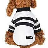 Собака Плащи Одежда для собак На каждый день Полоски Белый Черный