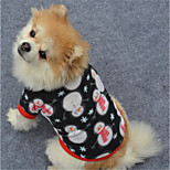 Dog Sweatshirt Dog Clothes Christmas New Year's Geometic White/Black Black