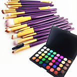40 Color Eyeshadow Eyebrow Powder Cosmetic Palette & 20 Eyeshadow Eyebrow Makeup Brush Set