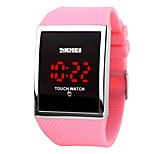 SKMEI  Hot Sale Promotion Fashion LED Watch for Ladies Digital Bracelet Wristwatches Women Touch Screen Electronic Watches
