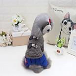 Кошка Собака Плащи Свитера Толстовки Комбинезоны Платья Пижамы Одежда для собак Для вечеринки На каждый день Сохраняет тепло Спорт