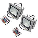 2 шт. Hkv® 10w 900-1000 lm rgb водонепроницаемый фэнтезийный светодиодный светильник с интегрированным светодиодом ac85-265v