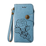 For Case Cover Card Holder Wallet with Stand Flip Embossed Full Body Case Flower Hard PU Leather for Xiaomi Xiaomi Redmi 3S Xiaomi Redmi