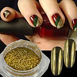 1g/Bottle Gorgeous Gold Mirror Glitter  Powder Holographic Shinny Pigment