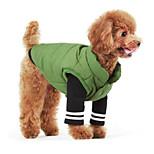 Собака Жилет Одежда для собак На каждый день Сплошной цвет Темно-синий Зеленый Синий Розовый Охотничий зеленый