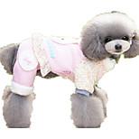 Cane Tuta Abbigliamento per cani Casual Cartoni animati Viola Blu Rosa