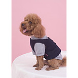 Dog Sweatshirt Dog Clothes Casual/Daily British Red Black