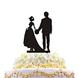 Cake Card Lovers Holding Hands And Cake Decorated With Cake Decoration