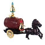 Music Box Holiday Decorations Toy Cars Toys Carriage Horse Plastic Pieces Unisex Gift