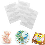 3PCS Feather Texture Sheet Set Sugar Craft Decoration Texture Matcake Mould