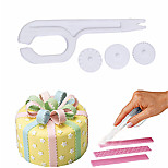 1PC 3 Wheel Fondant Cake Roller Modelling Embosser Cutter Plasticcake Decorating Knife Fondant Cutter Sugar