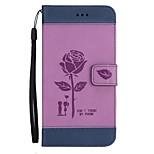 Недорогие -Кейс для Назначение LG K8 (2017) K10 (2017) Кошелек Бумажник для карт со стендом Флип Рельефный Чехол Цветы Твердый Искусственная кожа для