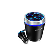Accnic C1 Car Charger  Bluetooth MP3 Player Display Voltage 2 Outlets 3 USB Ports 3.5A DC 12V-24V