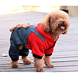 Dog Clothes/Jumpsuit Dog Clothes Casual/Daily Cartoon Yellow Red