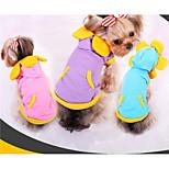 Собака Толстовки Одежда для собак На каждый день Цветовые блоки Лиловый Розовый Светло-синий