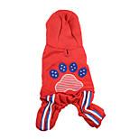 Собака Комбинезоны Одежда для собак Сохраняет тепло Сплошной цвет Красный Синий