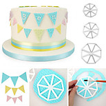 3PCS/Set Triangle Flag Cutter Mold Side Sugarcraft Fondant Cake Decorating Christmas Decorating